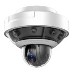Hikvision DS-2DP1636Z-D PanoVu outdoor multi-sensor IP camera, 360° overview, 8MP resolution and integrated HD 1080p PTZ