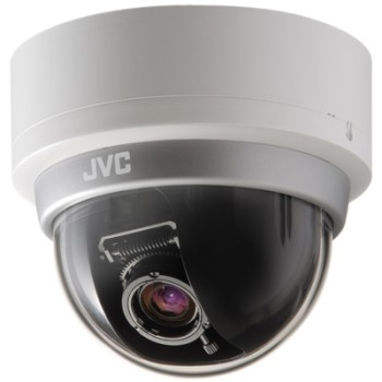 JVC VN-H257BU Super LoLux HD 1080p indoor mini-dome network camera with true day/night, CLVI analytics and 2-way audio