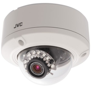 JVC VN-T216VPRU LoLux HD 1080p outdoor dome IP camera with 15m night vision, 2-way audio and PoE