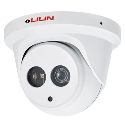 LILIN P2R6552E2 vandal-resistant outdoor dome IP camera with 5MP resolution, up to 30m IR, SenseUp Plus, edge storage & PoE