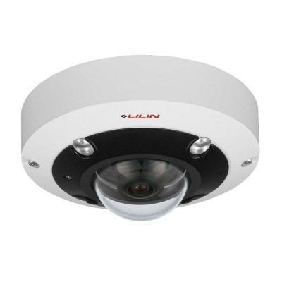 LILIN FR33C2 outdoor vandal-resistant dome with 360° view, 12MP resolution, 5m IR, two-way audio, edge recording and PoE