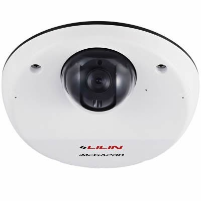 LILIN IPD6222ES outdoor-ready compact dome camera with HD1080p resolution, SenseUp Plus and face detection, PoE