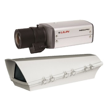 LILIN IPG1022ESX3.5 outdoor POE bundle, HD 1080p IP camera with true day/night and SD card recording