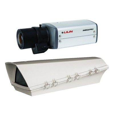 LILIN IPG1032ESX3 outdoor POE bundle, 3 megapixel IP camera with HD 1080p, true day/night and edge storage