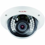 LILIN IPR2322X indoor varifocal dome IP camera with HD 1080p, 25m IR night-vision, I/O, two-way audio, PoE and edge storage