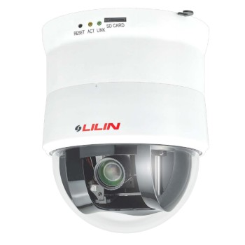 LILIN IPS3102E indoor PTZ speed dome IP camera with HD 1080p resolution, 360° pan, 10x optical zoom, edge storage and PoE+