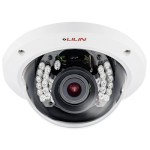 LILIN LR2322X indoor dome IP camera with HD 1080p, 15m IR night-vision, two-way audio, SenseUp Plus, PoE and edge storage