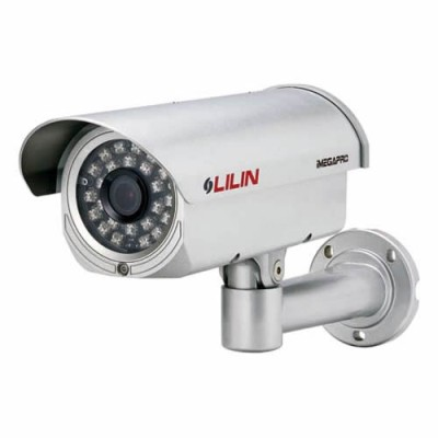 LILIN LR7224X outdoor IP camera with HD 1080p (15 fps), true day/night with 55m IR LEDs, two-way audio, PoE and SD storage