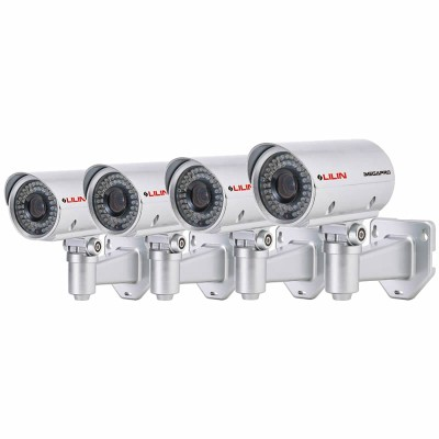 LILIN LR7722X outdoor IP security camera HD 1080p (15 fps) and 35m IR night-vision - 4 pack