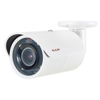 LILIN MR8422X vandal-resistant outdoor IP camera with HD 1080p resolution, up to 30m IR, SenseUp Plus, edge storage and PoE