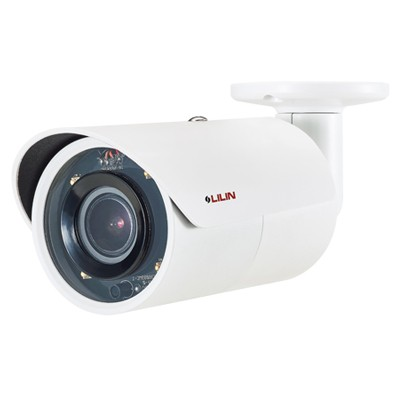 LILIN MR8442X outdoor mini-bullet IP camera with 4MP resolution, up to 30m IR, SenseUp Plus, MicroSD card storage and PoE