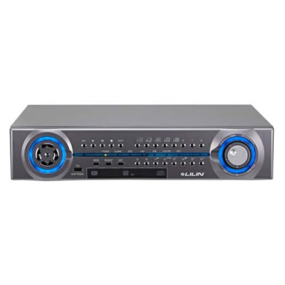 LILIN NVR116 network video recorder with 16 channels and touch screen support, up to 24TB storage and full HD 1080p output