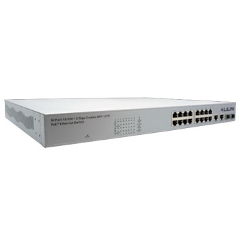 LILIN PMH-POE16260WAT 16 port fast Power over Ethernet switch, IEEE802.3at