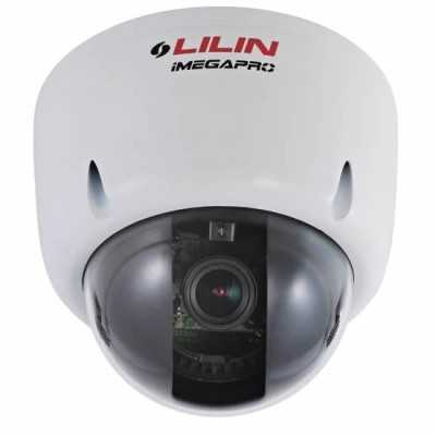 LILIN ZD6122 outdoor vandal-resistant dome IP camera with HD 1080p, true day/night, auto-focus, PoE and SD storage