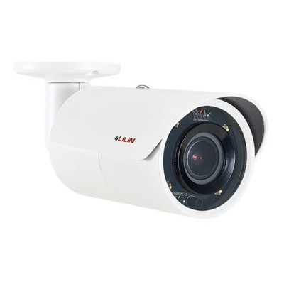 LILIN ZMR8442X outdoor bullet IP camera with 4MP resolution, up to 30m IR, SenseUp Plus, edge storage and PoE