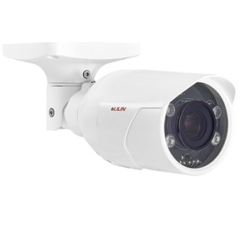 LILIN ZSR8122LPR outdoor-ready LPR bullet IP camera with HD 1080p resolution, up to 35m IR, SenseUp Plus and PoE+