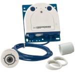 Mobotix S14D-SEC-SET1 outdoor IP camera with single 3-megapixel 360 degree hemispheric FlexMount lens module