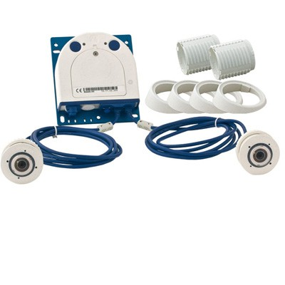 Mobotix S14D-SEC-SET3 outdoor day/night IP camera with 3-megapixel 360 degree hemispheric FlexMount lens modules