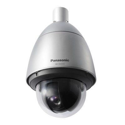 Panasonic WV-SW397B outdoor PTZ dome IP camera with 30x optical zoom, HD 720p and Super Dynamic WDR