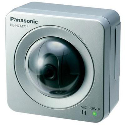 Panasonic BB-HCM715 indoor, compact, 1.3 megapixel, pan/tilt IP camera with two-way audio, H.264, PoE
