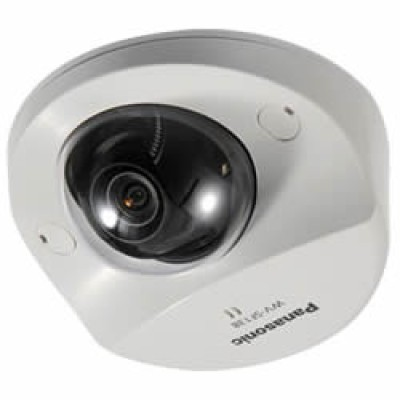 Panasonic i-Pro WV-SF138 indoor fixed dome camera with 100° wide angle view, HD 1080p, built-in microphone and edge storage