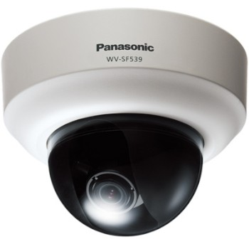 Panasonic i-Pro WV-SF539 indoor dome IP camera with True day/night switching, VIQS, 2-way audio, Auto Back Focus, WDR