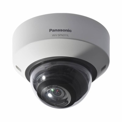 Panasonic WV-SFN311L indoor dome IP camera with HD 720p (60 fps), 30m IR night-vision, auto focus and edge storage