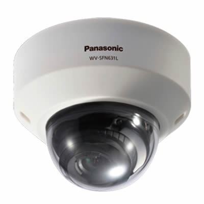 Panasonic WV-SFN631L indoor dome IP camera with HD 1080p (60 fps), 30m IR night-vision, dual SD recording and PoE