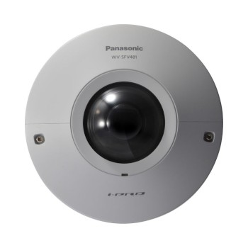 Panasonic WV-SFV481 outdoor 9MP vandal-resistant 360° dome IP camera with two-way audio and SD card storage