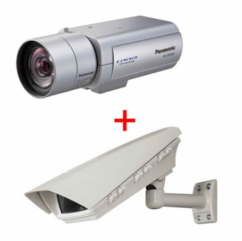 Panasonic i-Pro WV-SP509 outdoor POE bundle, HD 1080p IP camera with true day/night and SD card recording