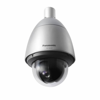 Panasonic WV-SW598 vandal-resistant outdoor PTZ dome IP camera with 30x optical zoom, HD 1080p and face detection