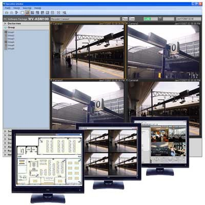 Panasonic i-Pro WV-ASM100 operation and management software for multi-recorder multi-site systems