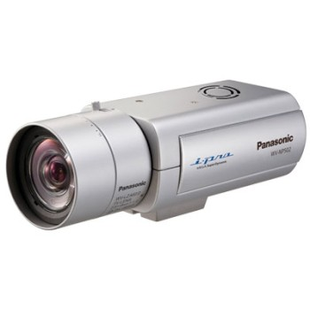 Panasonic i-Pro WV-NP502 indoor, 3 megapixel, fixed IP security camera with two-way audio, day/night function, H.264, PoE