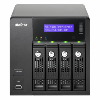QNAP VioStor VS-4108 PRO+ Network Video Recorder with 8 channels and up to 16TB storage, Linux-embedded
