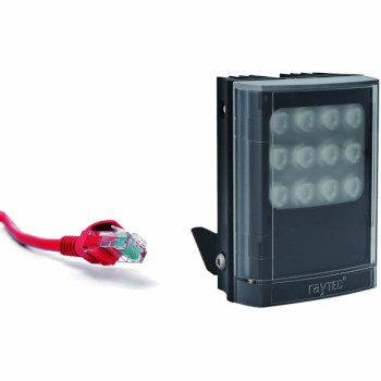Raytec Vario IP PoE i4 network infrared illuminator with up to 120° beam angle and a maximum of 120m distance