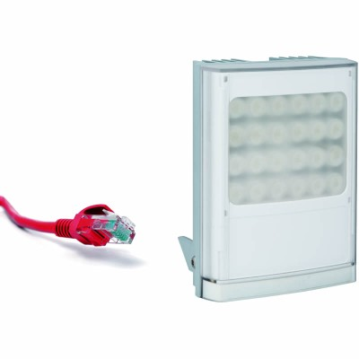 Raytec Vario IP PoE w8 network white-light LED illuminator with up to 120° beam angle and a maximum of 150m distance