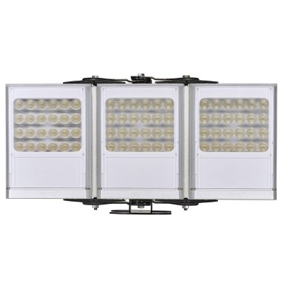 Raytec Vario2 w8-3 triple white-light LED illuminator with up to 180° beam angle and a maximum of 311m distance