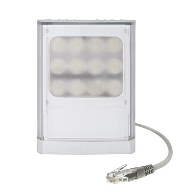 Raytec Vario2 PoE w4-1 white-light LED illuminator with up to 120° beam angle and a maximum of 110m distance