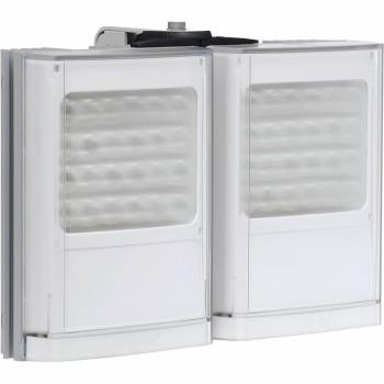 Raytec Vario w8-2 double white-light LED illuminator with Adaptive Illumination up to 180° and a maximum of 210m distance
