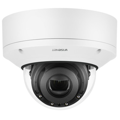 Wisenet X Plus XND-6081RV/8081RV indoor dome IP camera with up to 5MP resolution, 50m IR, varifocal lens & PoE
