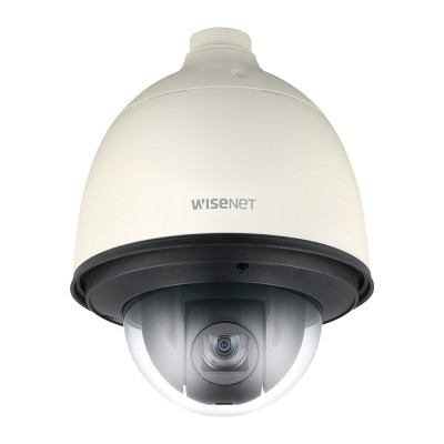 Wisenet XNP-6320H outdoor PTZ IP camera with 2MP resolution, 360° endless pan, 32x optical zoom and PoE