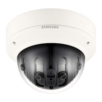 Wisenet PNM-9020V outdoor vandal-resistant IP camera with 7.3MP resolution, multiple sensors and 180° view