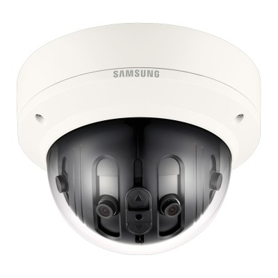 Samsung Wisenet PNM-9020V outdoor vandal-resistant IP camera with 7.3MP resolution, multiple sensors and 180° view