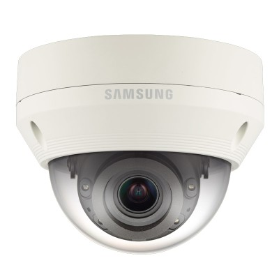 Samsung Wisenet QNV-7080R outdoor vandal-resistant dome IP camera with 4MP resolution, varifocal lens, 30m IR and PoE