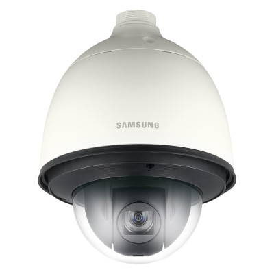 Samsung Wisenet SNP-6320H outdoor PTZ IP camera with HD 1080p, 360° pan, 32x optical zoom, auto tracking and PoE+