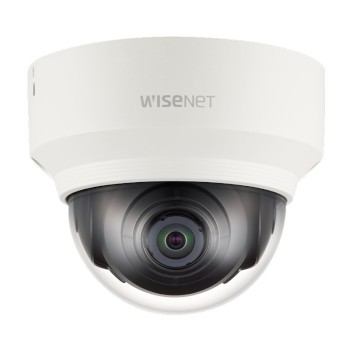 Wisenet XND-6010 indoor dome IP camera with HD 1080p resolution at up to 60fps, dual SD recording and PoE