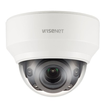 Samsung Wisenet XND-8080R indoor dome IP camera with 5MP resolution, varifocal lens, 30m IR, dual SD recording and PoE