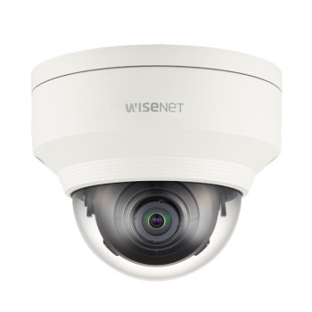 Wisenet XNV-6010 outdoor vandal-resistant dome IP camera with HD 1080p resolution, dual SD card recording and PoE
