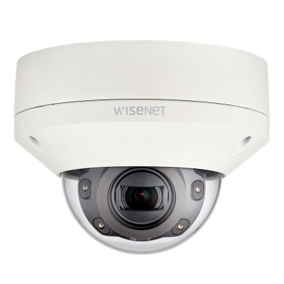 Wisenet XNV-6080R outdoor vandal-resistant dome IP camera with HD 1080p resolution, varifocal lens, 50m IR and PoE
