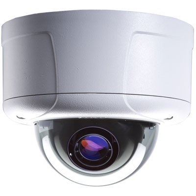 Pelco ID30DN8-1 Indoor 3.1 megapixel fixed dome IP camera with H.264, infrared day/night, on-camera recording and PoE